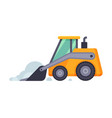 compact snow plow excavator winter snow removal vector image