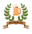 concept for oktoberfest with a picture of a beer vector image vector image