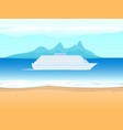 cruise ship liner on the background sea vector image