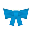 decorative blue bow vector image vector image