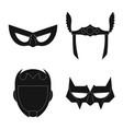 design of hero and mask logo set of hero vector image