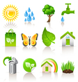 Ecology icons vector | Price: 3 Credits (USD $3)