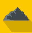 exploration of mountain icon flat style vector image vector image