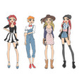 fashion look girl beautiful girl woman female vector image vector image