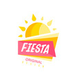 fiesta logo original design colorful label for a vector image vector image