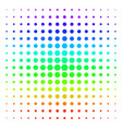 filled hexagon icon halftone spectral effect vector image