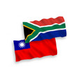 flags taiwan and republic south africa on a vector image vector image