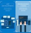 flat software apps development concept set vector image vector image