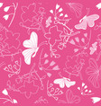 floral white butterflies background pattern vector image vector image