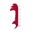 funny chicken mascot design template vector image