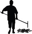 Gardener silhouette vector image vector image