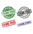 grunge textured crime free seal stamps vector image vector image