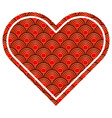 heart love rounded lines pattern image vector image