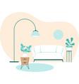 home interior retro style vector image