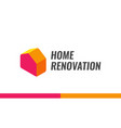 home renovation logo vector image vector image