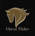 Horse Rider Logo vector image vector image