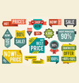 hot price shop set of stickers vector image vector image