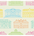 House pattern color vector image vector image