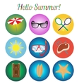 icons set Summer retro vector image vector image