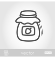Jam jar outline icon Harvest Thanksgiving vector image vector image