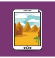 landscape for wallpaper smartphone design vector image