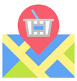 location icon supermarket and shopping mall vector image vector image