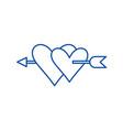 love symbol line icon concept love symbol flat vector image vector image