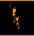 man portrait silhouette in backlight contrast vector image vector image