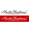 merry christmas artistic lettering line design vector image vector image