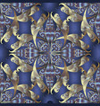 modern intricate paisley seamless pattern dark vector image