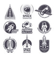 monochrome space shuttle and vector image vector image