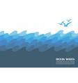 ocean waves background vector image