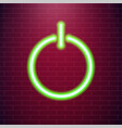 on and off lamp neon light toggle switch button vector image vector image