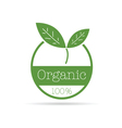 organic icon green color vector image vector image