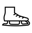 outline beautiful skating boot icon vector image vector image