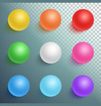 photorealistic ball set template vector image vector image