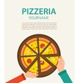 pizzeria flyer People having dinner together and vector image vector image