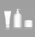 plastic bottles for cream and soap packing vector image