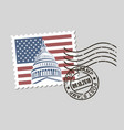 postage stamp with american symbols vector image vector image