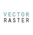 raster lettering vector image vector image