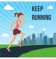 Running woman poster vector image vector image