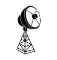 satellite antenna isolated icon vector image
