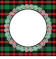 Scottish tartan with frame vector image