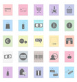 shop set black icon on color vector image vector image