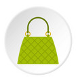 small woman bag icon circle vector image vector image