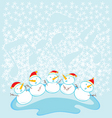 snow kids choir vector image vector image