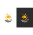 sun organic logo vector image