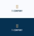 T-brand letter frame building logo vector image vector image