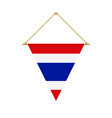 thai triangle flag hanging vector image