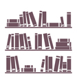 Vintage library books on the shelves vector | Price: 1 Credit (USD $1)